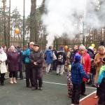 Открытие многофункциональной спортивной площадки в Заречье