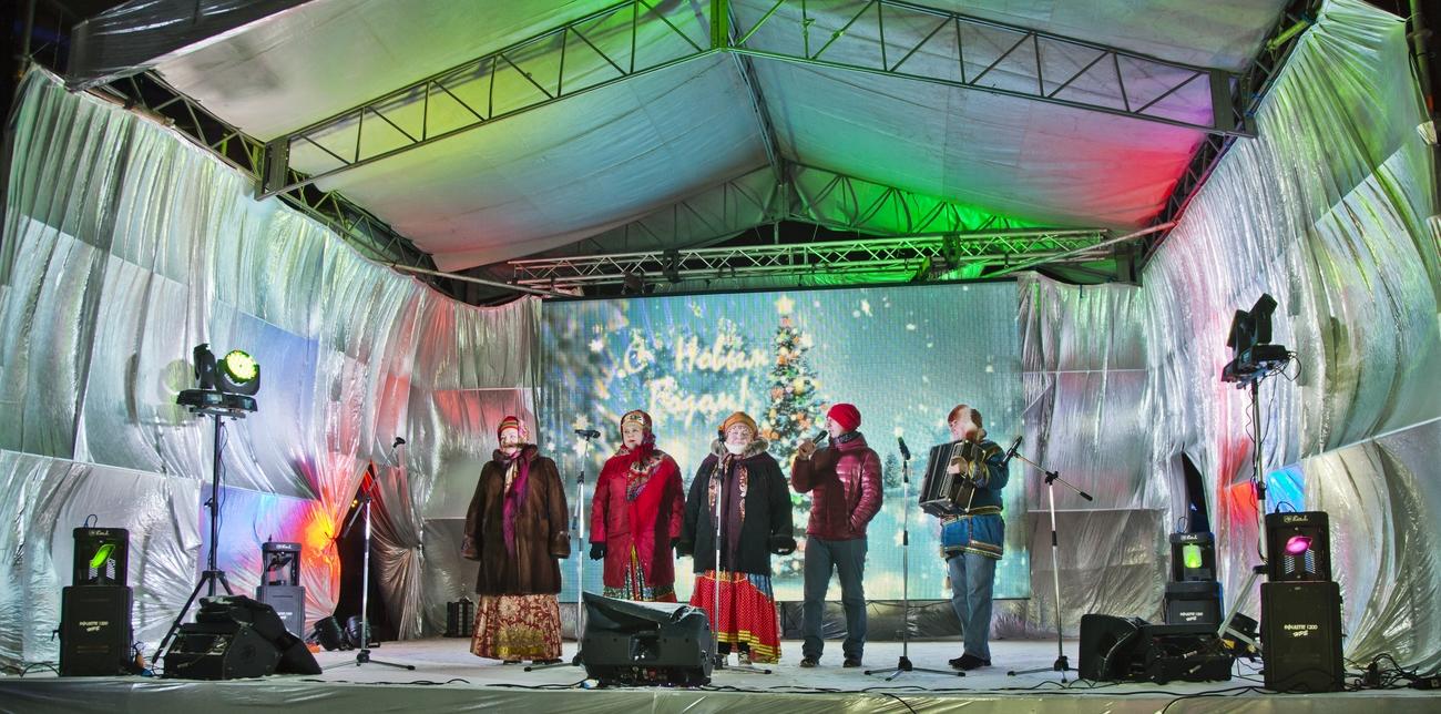 Новогодние гуляния в центре Одинцово