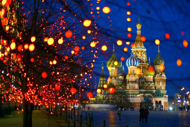 Рождество на Красной площади