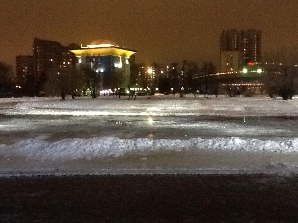 Растаял лед на пруду
