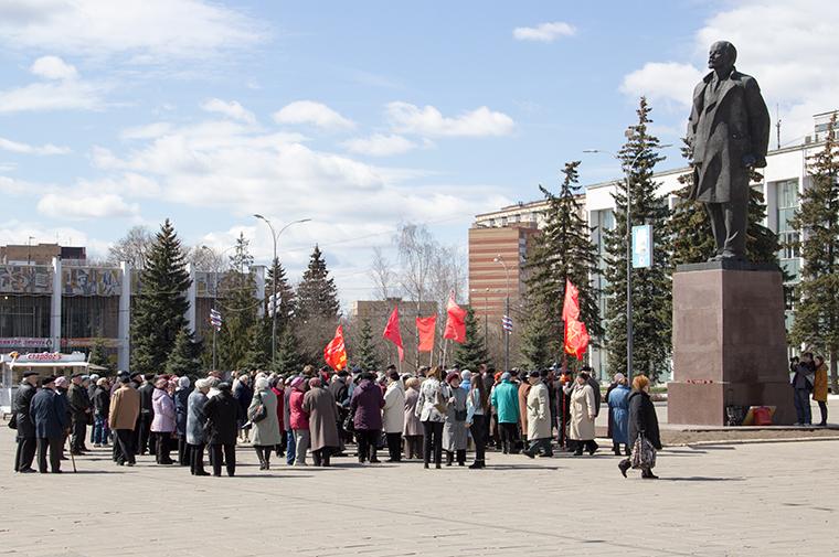 Митинг на Центральной площади в Одинцово