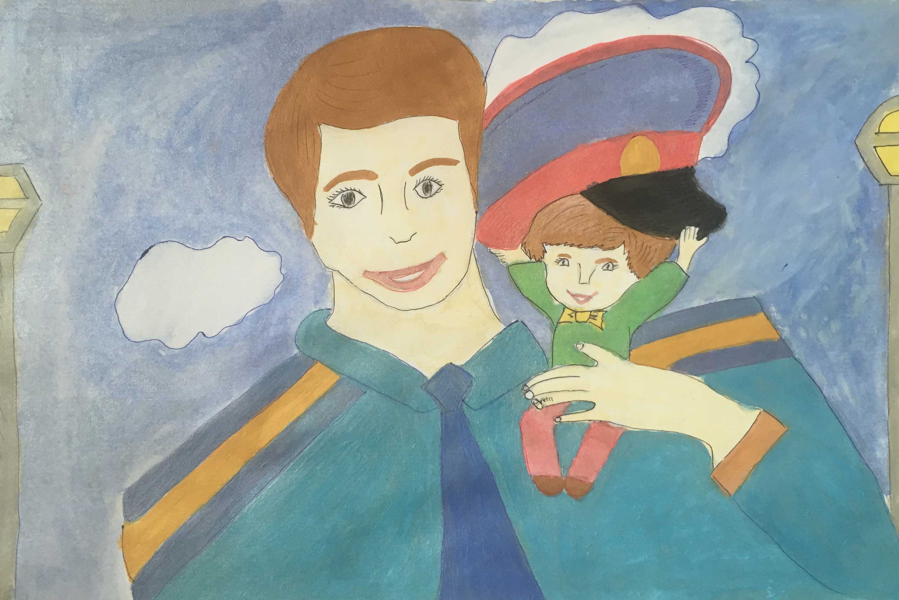 Рисунок с полицейским