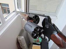 Ружье из окна