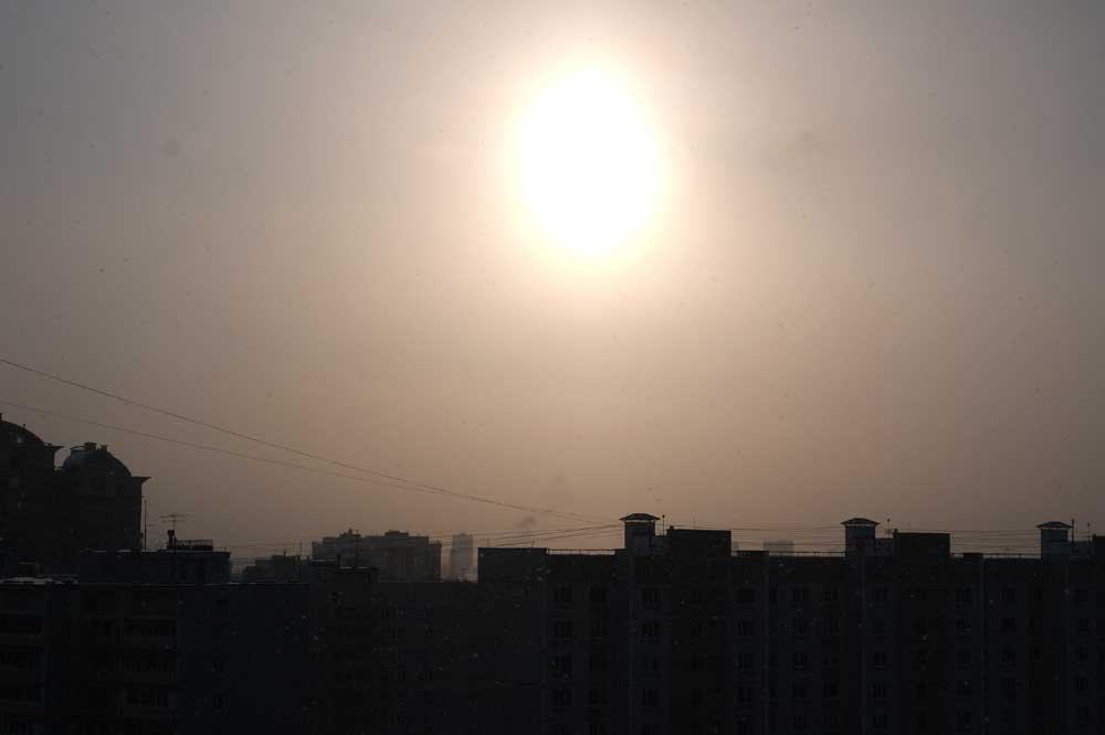 Зимнее солнце в Одинцово
