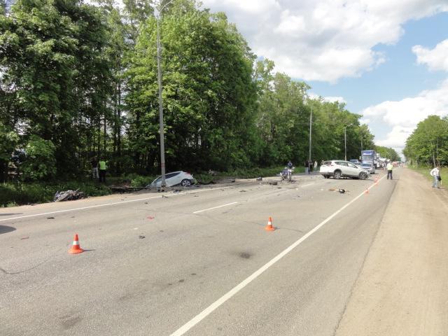 Водитель мотоцикла погиб в ДТП в Одинцовском районе